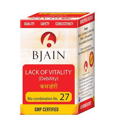 Bio-Combination No.27 [Lack of Vitality (Debility)]